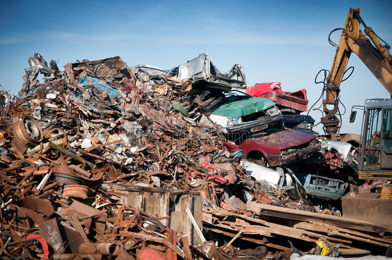 Download Iron Scrap Metal Compacted To Recycle Stock Image - Image: 23688399