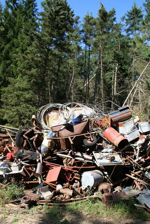Download Iron scrap polution forest stock photo. Image of aluminum - 1008500