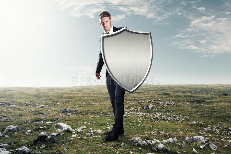 Iron shield royalty free stock images