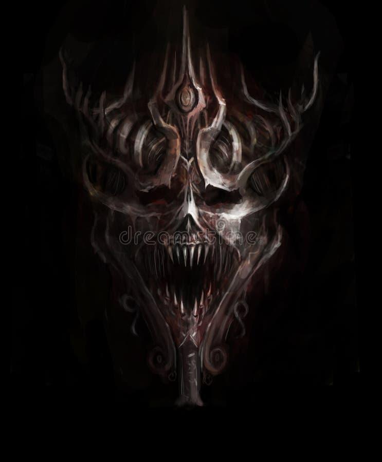 Iron skull. Satanic iron skull of doom
