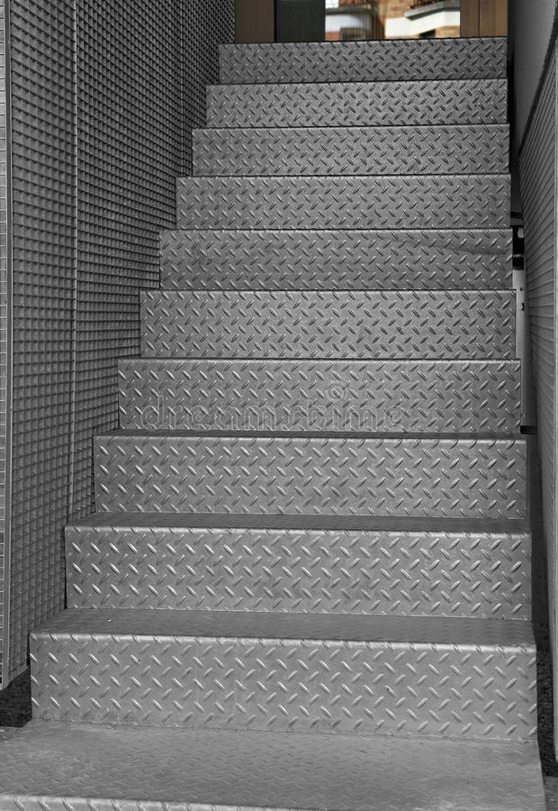 Iron staircase royalty free stock images