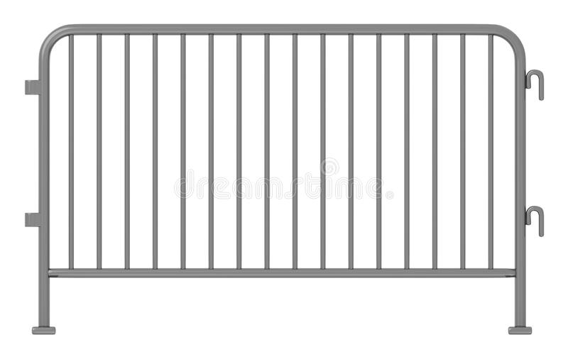 Iron stand barrier. 3d render of iron stand barrier royalty free illustration