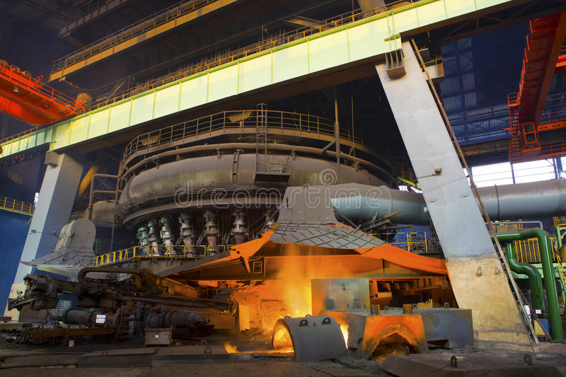Iron and steel industry. In a steel plant stock photography