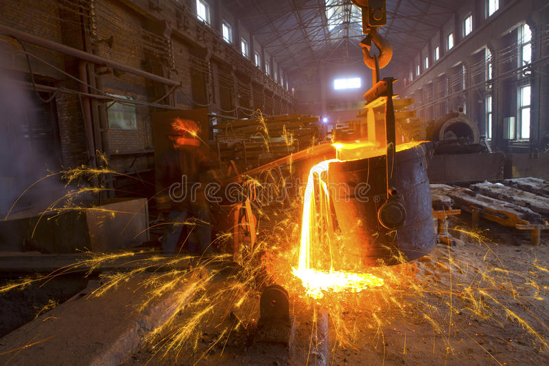 Iron and steel industry. In a factory stock images