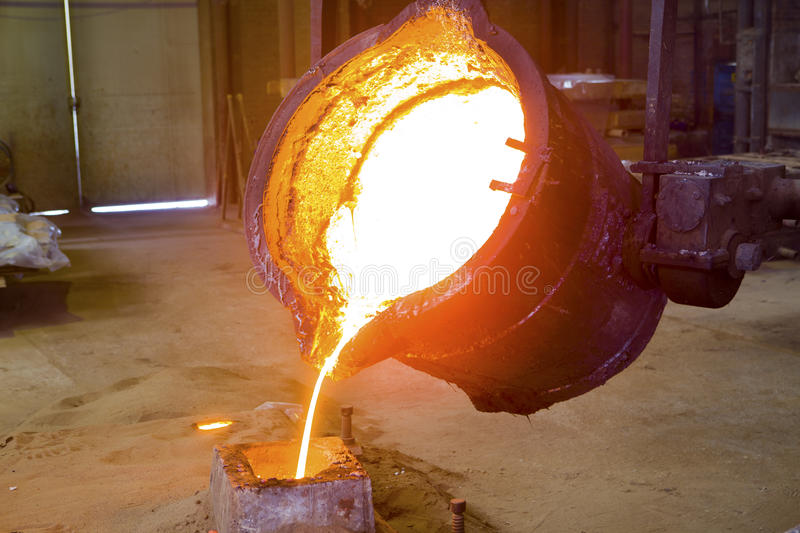 Iron and steel industry. In a factory stock photos