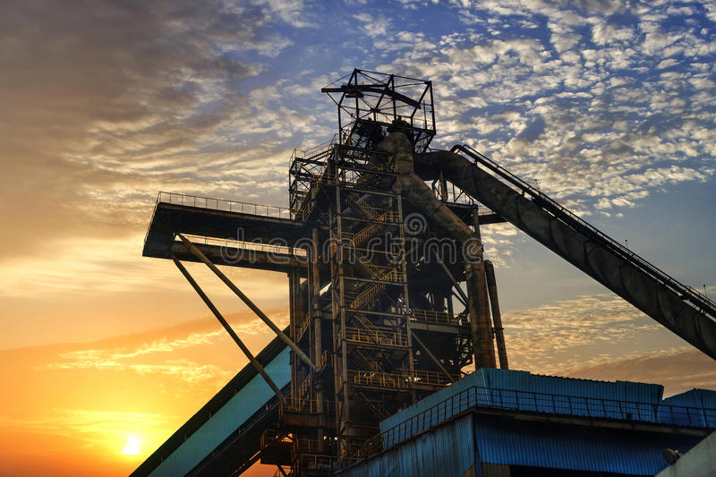 Iron and steel industry. Landscape, Shanghai, China royalty free stock photography