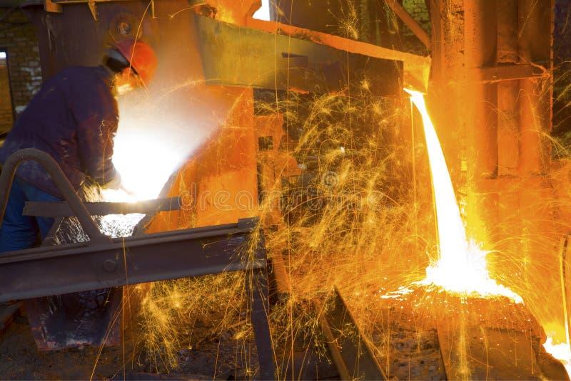 Iron and steel industry. Steelmaking features stock photo
