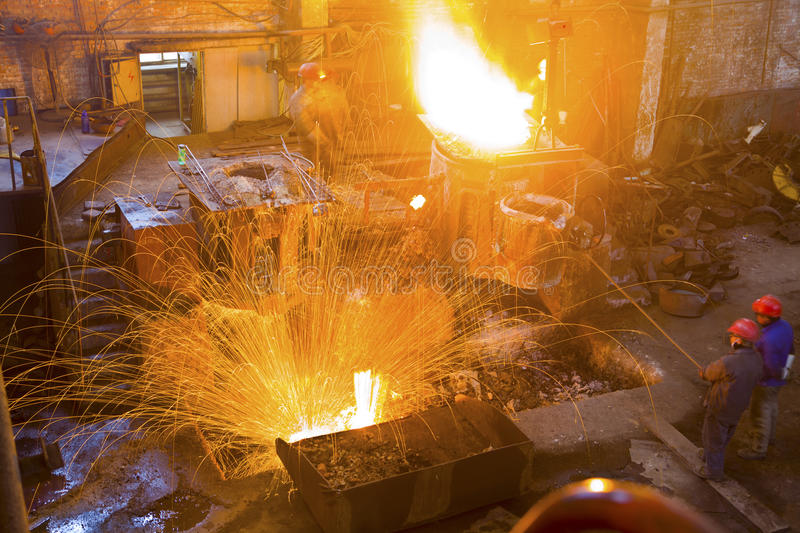 Iron and steel industry. Steelmaking features royalty free stock photos