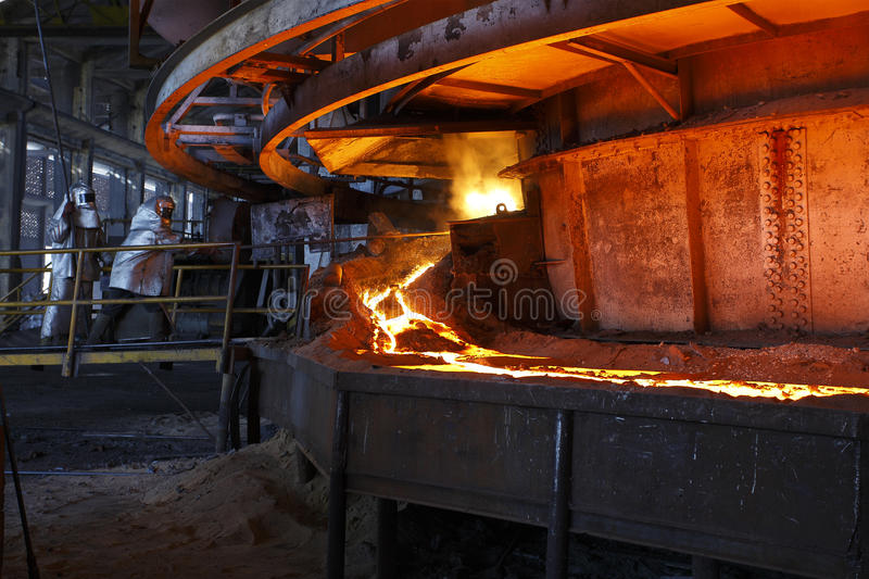 Iron and steel industry. Iron and steel working industry stock image