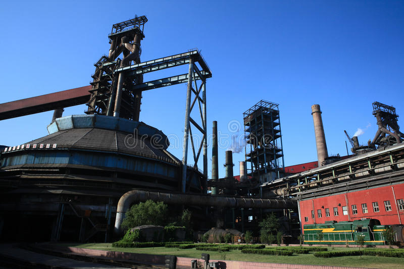 Iron and Steel Plant6. Capital Iron and Steel Plant in Beijing,China,Asia royalty free stock image