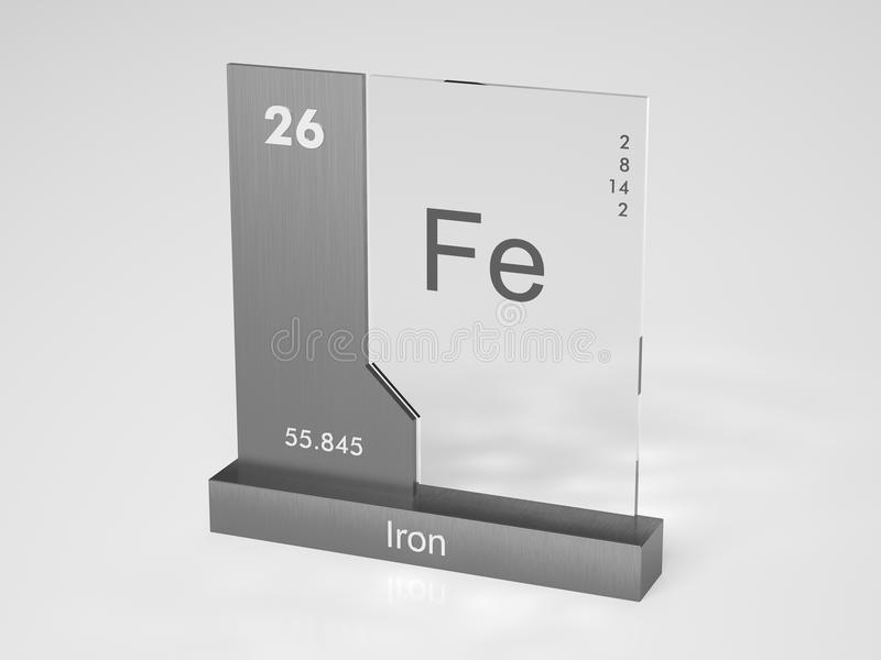 Iron - symbol Fe stock illustration