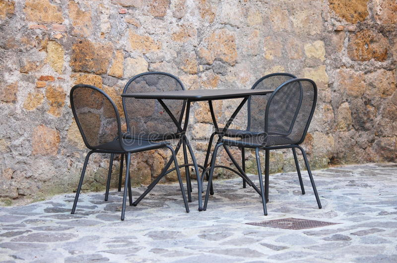 Download Iron Table And Chairs Royalty Free Stock Photography - Image: 22655807