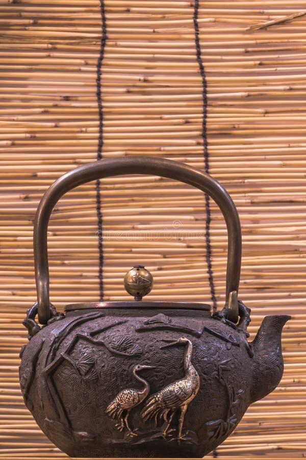 Iron teapot royalty free stock images