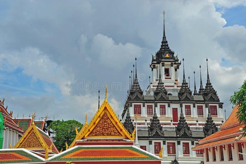 Iron Temple Loha Prasat In Wat Ratchanatdaram Worawihan, Bangkok Stock Photos