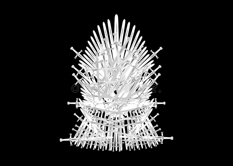 Iron throne icon. Vector illustration isolated or black background vector illustration