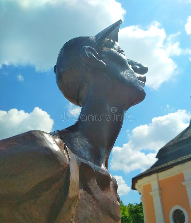 Iron tourist, Kamenets-Podolsky, Ukraine royalty free stock image