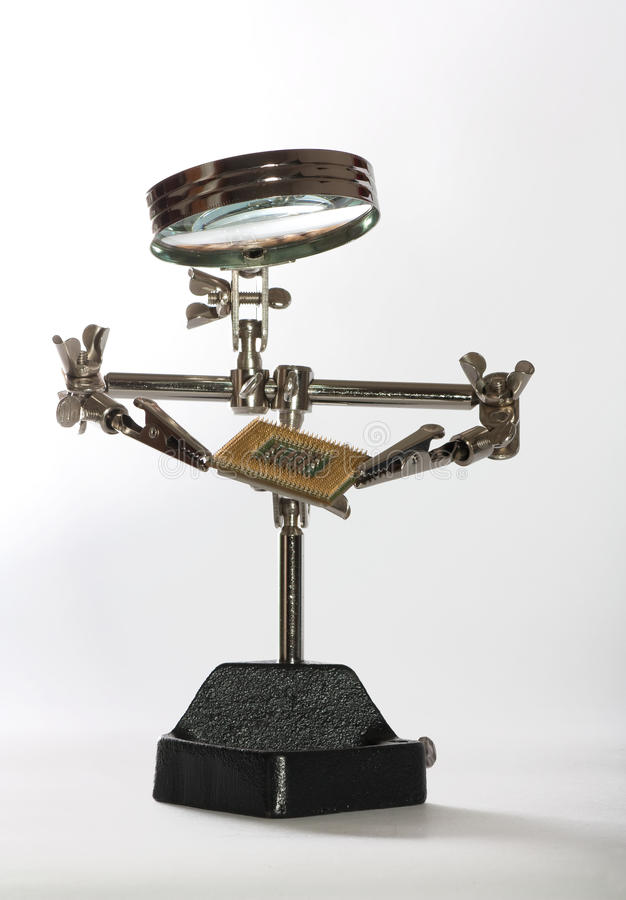 Iron toy robot stock photography