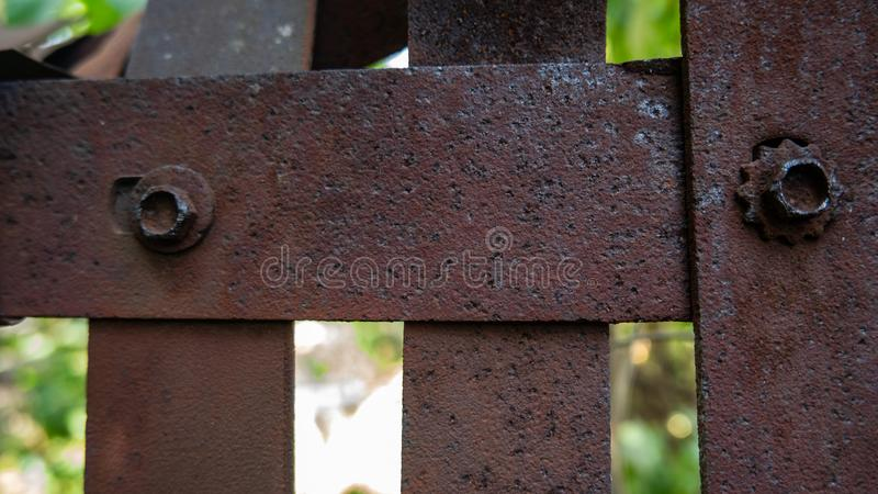 Iron wall of rusty iron design background and texture royalty free stock images