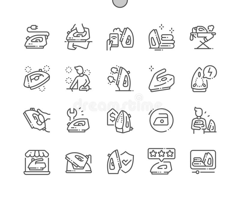 Iron Well-crafted Vector Thin Line Icons stock photo