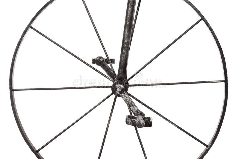 Iron wheel stock image