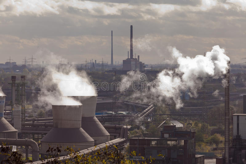 Iron works industry in Duisburg, Germany, Europe royalty free stock images