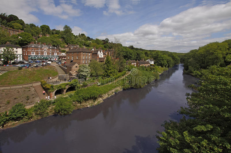Ironbridge和河Severn 免版税库存照片