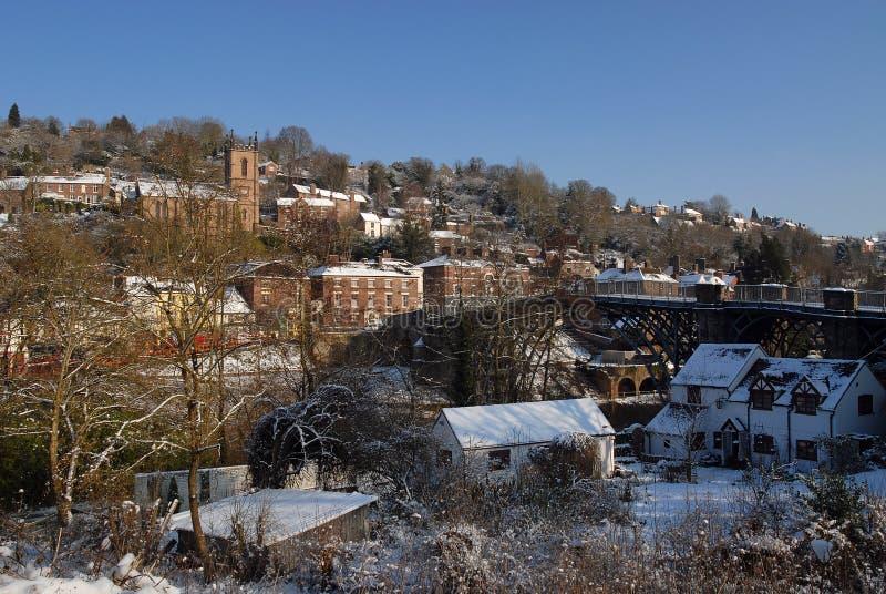 ironbridge生动描述冬天 图库摄影
