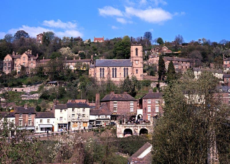 Ironbridge镇和教会 免版税库存照片