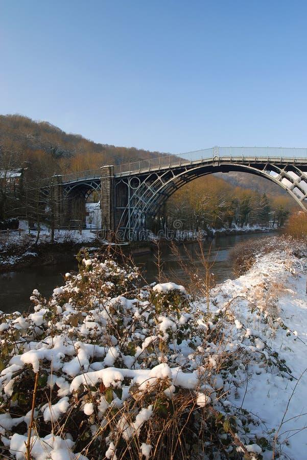 Ironbridge - de Beelden van de Winter stock afbeeldingen