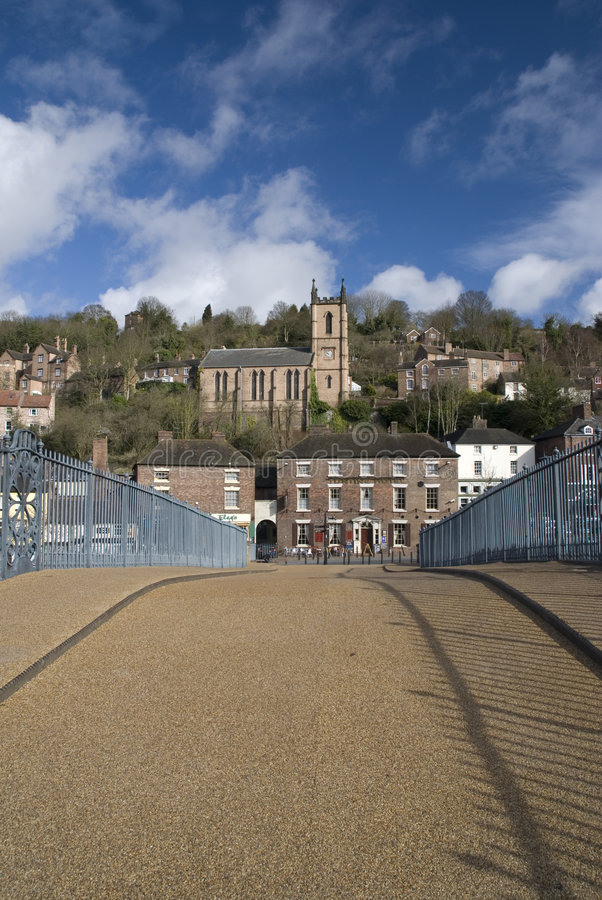 Ironbridge. Inglaterra fotos de archivo libres de regalías