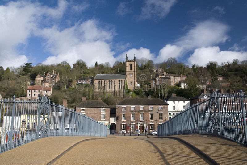 Ironbridge. l'Angleterre images libres de droits