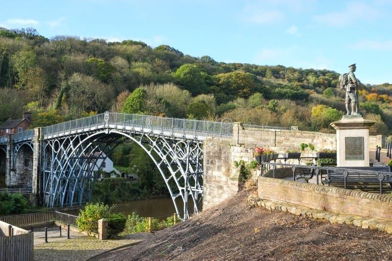 Ironbridge nello Shropshire, Regno Unito fotografia stock