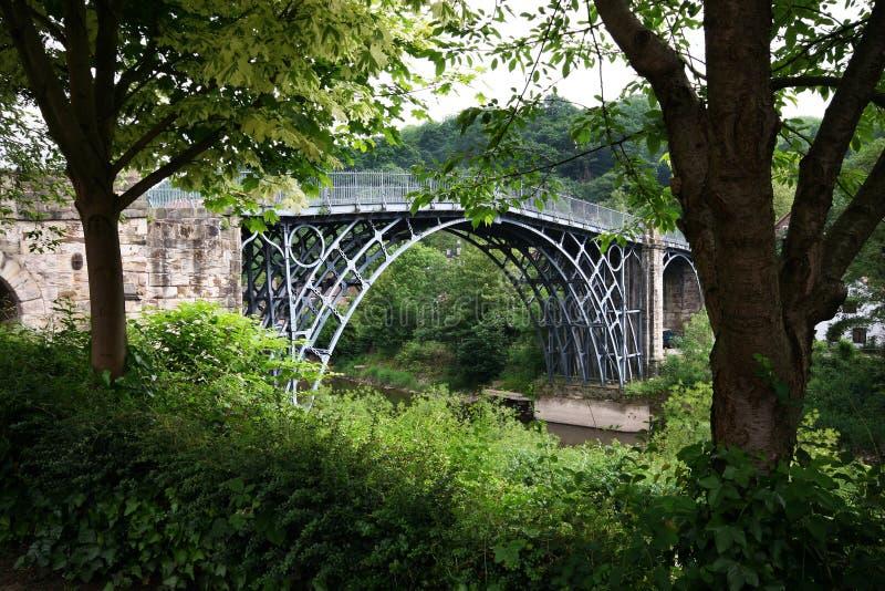 Ironbridge in Shropshire stock afbeelding