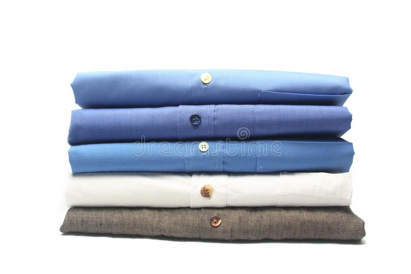 Ironed shirt. Shirt in the dry cleaning ironed, folded royalty free stock photography