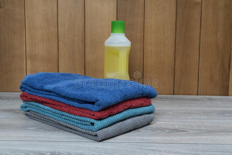 Ironed towels royalty free stock photos
