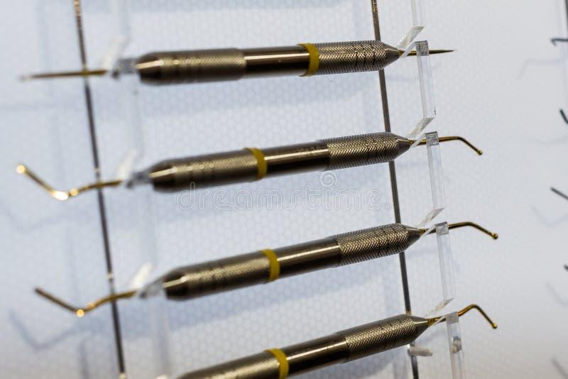 Ironer de Shtpfer, instrumento dental foto de stock