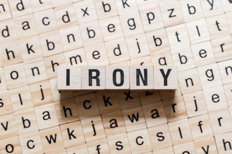 Ironii słowa pojęcie zdjęcia royalty free