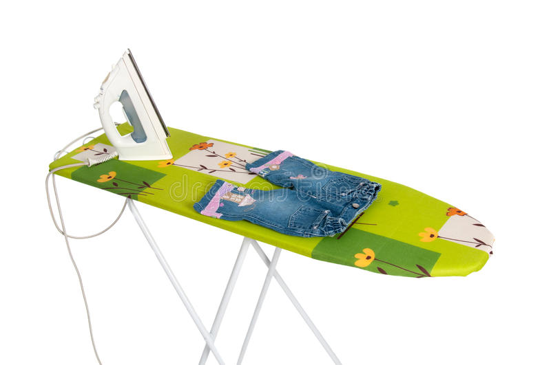 Ironing board. In the white background royalty free stock photos