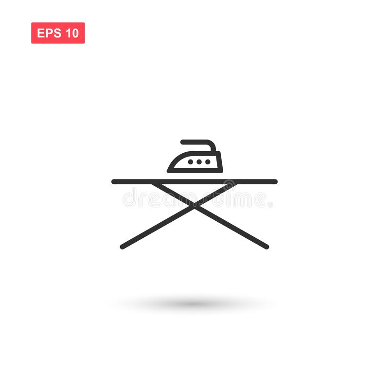 Ironing board with iron vector isolated 7 royalty free illustration