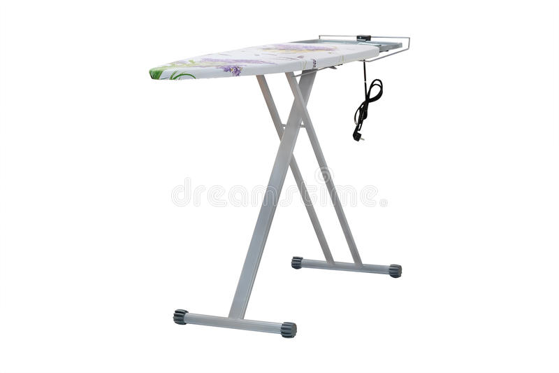 Ironing-board. Under the white background royalty free stock photography