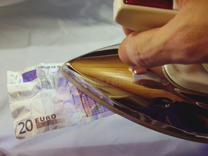 Ironing-euro-x Free Stock Image