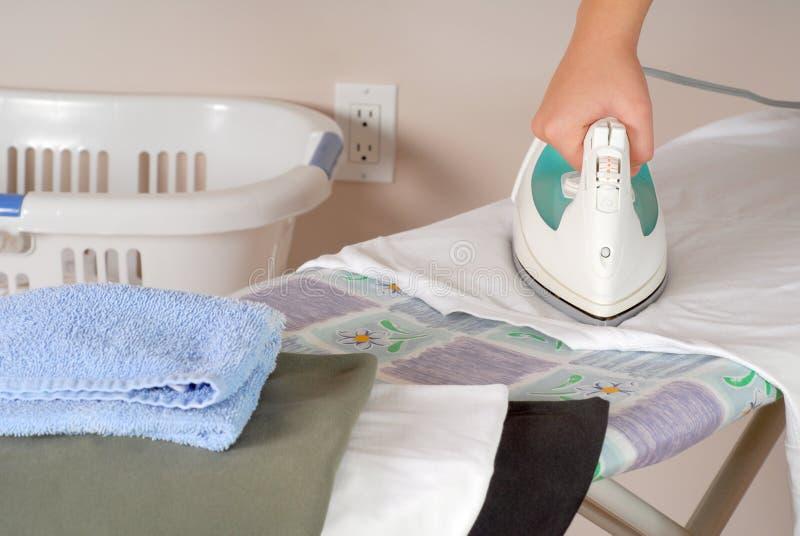 Ironing laundry royalty free stock photo