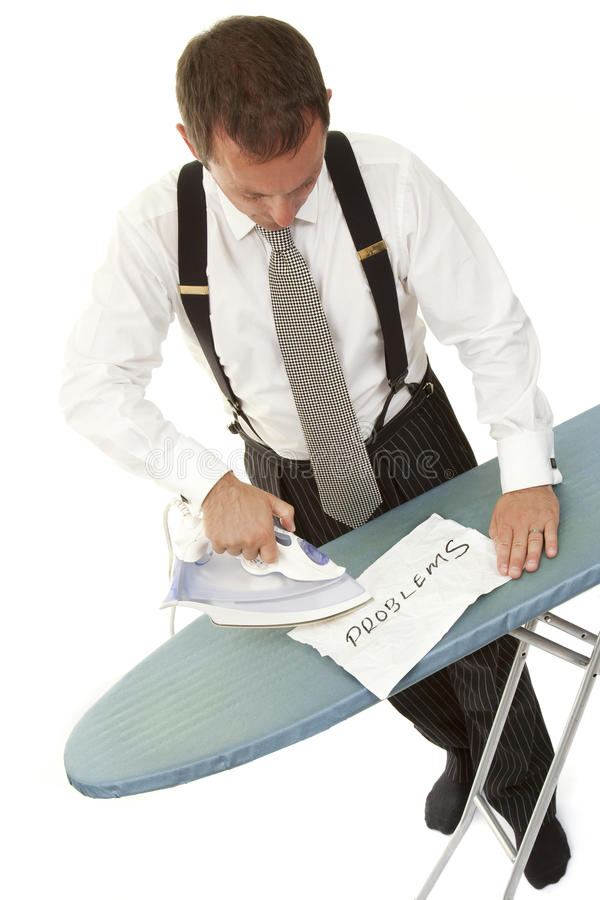Ironing out problems 1 stock image