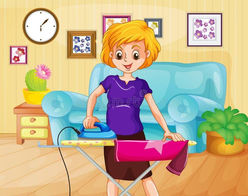 Ironing stock illustration