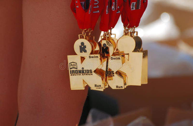 Ironkids 2011 medals, South Africa royalty free stock photo