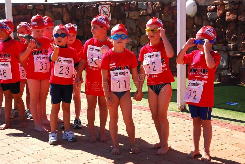 Ironkids Südafrika 2010 lizenzfreies stockbild