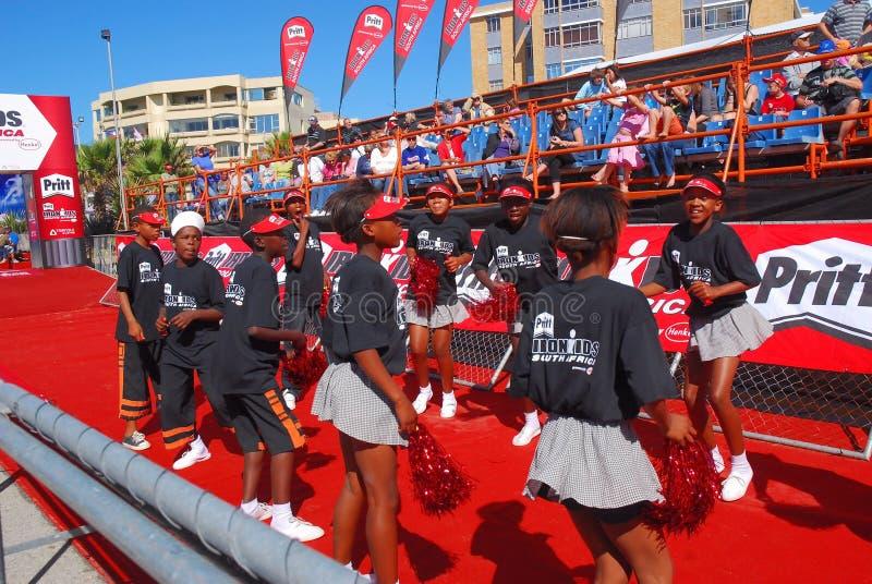 Ironkids SA 2010 de las animadoras fotos de archivo