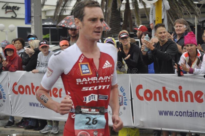 Ironman África do Sul - campeonato mundial em Port Elizabeth em África do Sul fotografia de stock royalty free