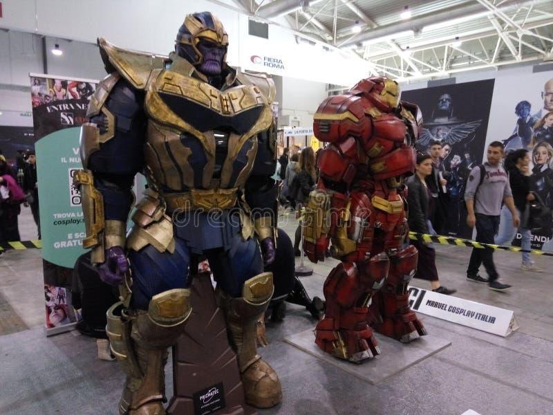 Ironman и его враг стоковые фотографии rf