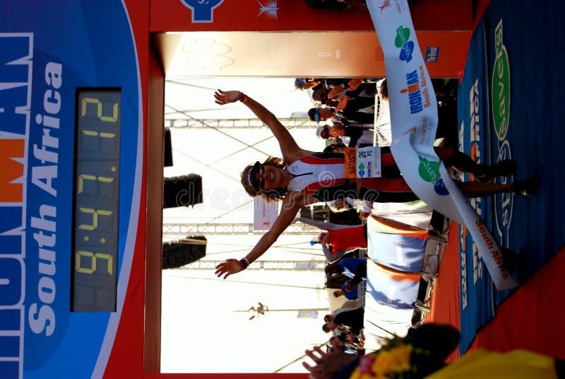 Ironman 2012 triathlete winner stock image